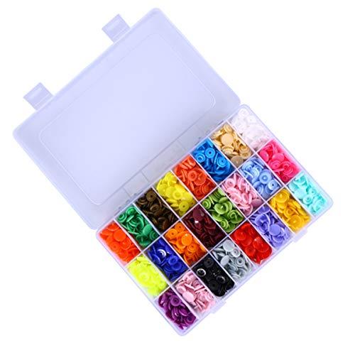 VORCOOL 360 Botones de Resina a Presión Coloridos Botones de Cierre a Presión Botones de Presión para Ropa DIY Costura Manualidades Scrapbooking