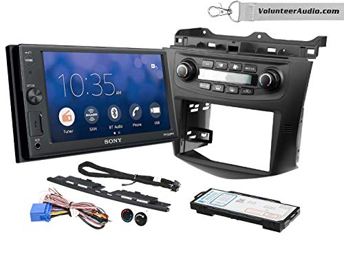 Sony XAV-V10BT Double Din Radio Install Kit With Sirius XM Ready Fits 2003-2007 Honda Accord (Factory climate controls)