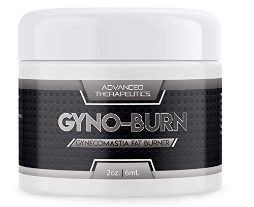 Gyno Burn Gynecomastia Cream New 4 Ounce Jar. Burn Stubborn Chest Fat and Firm up Your Pecs. Fat Burner Cream Works For Men and Women