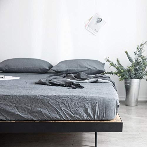 GmanXier Sábana de algodón Colcha colchón sábana de protección Cama de Estudiante sábana Ajustable Individual Doble Cama King Size regalo-B180x200cm + 25cm