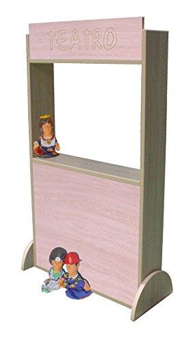Mobeduc 602016HP18 Eco-Teatro per bambini, in legno, colore: faggio, 71 x 30 x 115 cm