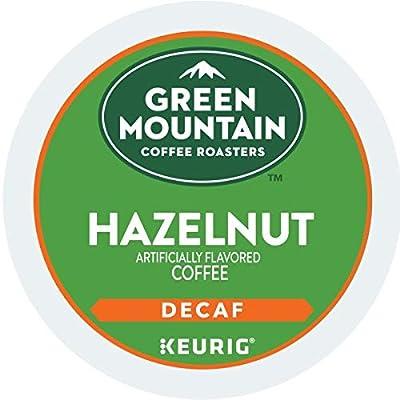 Green Mountain Coffee Roasters Hazelnut Decaf, Single-Serve Keurig K-Cup Pods, Flavored Light Roast Coffee, 48 Count