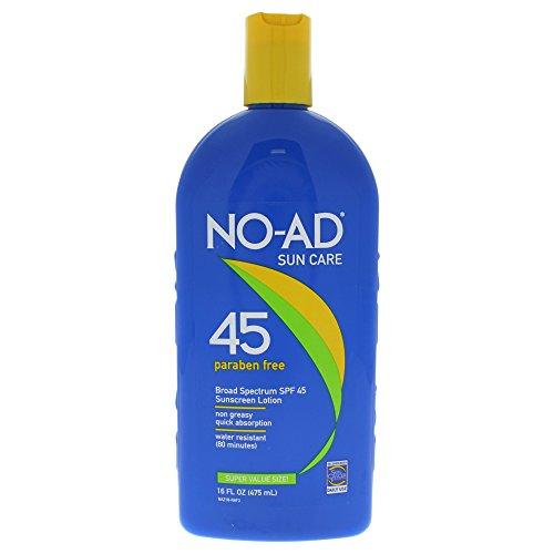 NO-AD Sunscreen Lotion SPF 45 16 oz
