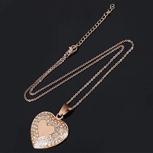 Persoonlijke accessoires, Kettingen, Dainty Hart Ketting Rose Goud RVS Bedel met Kleine Kristallen Hartvorm Hanger voor Vrouwen Moeder Sieraden, Thumby Rosegoud