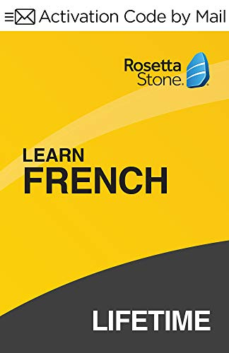 Rosetta Stone: Learn French with Lifetime Access on iOS, Android, PC, and Mac [Activation Code by Mail]