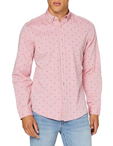 Springfield Pinpoint Print Buttondown-C/61 Camisa Casual, Rojo (Red 61), M (Tamaño del Fabricante: M) para Hombre