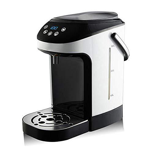 Distributeur instantané d'eau chaude thermique - Indication du niveau d'eau pour un chauffe-eau en acier inoxydable avec écran LCD - pour la cuisson de desserts de boissons chaudes (3,5 L, 2000W)