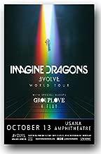Concert Promoter Imagine Dragons Poster - 2017 Evolve Tour 11 x 17 Promo