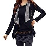 Haxikocty Women Solid Cardigan Drape Front Open Zipper Jacket Lady Casual Thin Coat Tops Outwear