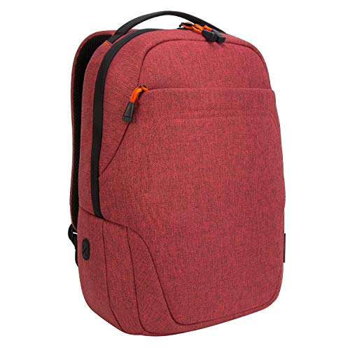 Targus Groove X2 Compact Backpack with Protective Sleeve Designed for Travel and Commute fits up to 15-Inch Macbook and Other Laptop, Dark Coral (TSB95202GL)