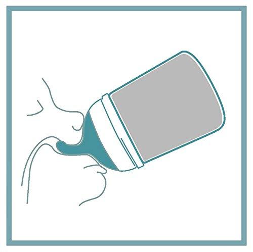 Suavinex 304591 Zero.Zero - Biberon anti colica 180 ml, Bianco/Rosa