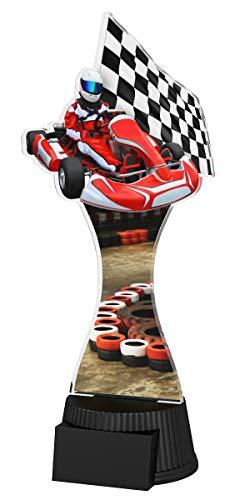 Trophy Monster Go Kart Sport - Plato de cumpleaños con Grabado Gratuito   Trato de trofeos a Granel   para la Escuela, niños, Grandes Empresas   Hecho de acrílico Impreso (190 mm)