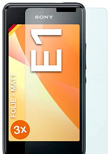 moex Schutzfolie matt kompatibel mit Sony Xperia E1 - Folie gegen Reflexionen, Anti Reflex Bildschirmschutz, Matte Bildschirmfolie - 3X Stück