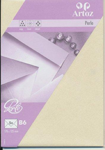 Artoz Papier AG - Umschlag Perle B6 5er-Pack ivory