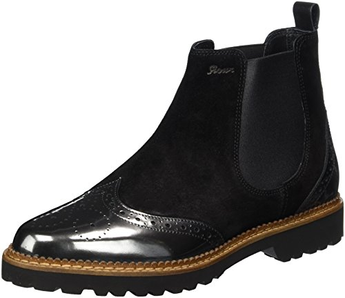 Sioux Damen Chelsea Boots Chelsea Boots Veselka, Grau (Slate/Schwarz), 38.5 EU ( 5.5 UK)