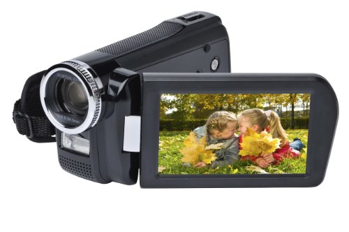 Medion Life X47050 Digitaler Camcorder (7,6 cm (3 Zoll) Display, 14 Megapixel, 10-fach digitaler Zoom, Full HD) schwarz