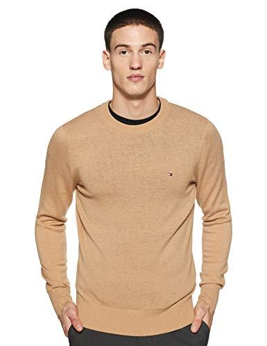 Tommy Hilfiger Men's Wool Sweater (A9AMS163L_Tannin Heather_L)