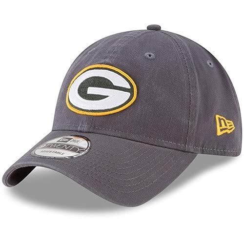 New Era Men's Green Bay Packers Graphite Core Classic Team Logo 9TWENTY Adjustable Hat