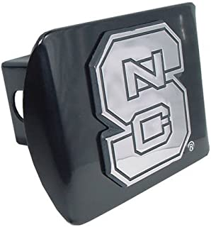 Elektroplate North Carolina State University Black NCS Wolfpack Emblem Metal NCAA Trailer Hitch Cover Fits 2 Inch Auto Car Truck Receiver