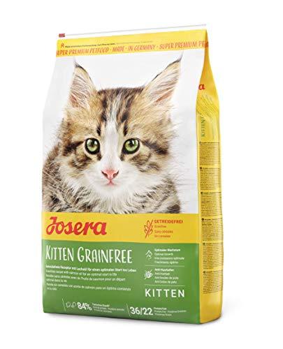 JOSERA Kitten grainfree (1 x 10 kg) | getreidefreies Katzenfutter mit Lachsöl | Super Premium Trockenfutter für wachsende Katzen | 1er Pack