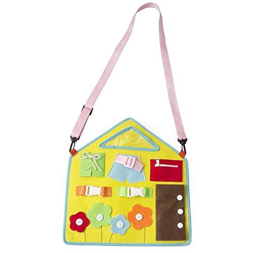 precauti Leer dressoirs, vroeg leren Basis levensvaardigheden Viltbord Kinderspeelgoed Onderwijs 1-5 jaar oud Speelgoed Tekentafel Leren Aankleedgesp