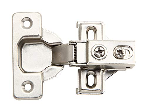 50 Pack - Silverline Face Frame Quiet Soft Close Cabinet Door Hinges, 1/2 Inch Overlay, with Built-in Metal Dampers, Strong Heavy Duty Steel for Kitchen Bathroom