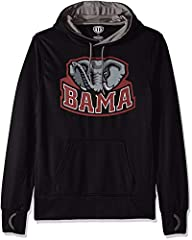 Midweight polyester hooded pullover sweatshirt Warm but lighter weight, with super soft interior Ribbed details enhance durability; Screen printed graphic Officially licensed product of the National Collegiate Athletic Association Exclusive sports li...