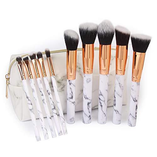 Jaysis Pinceau Maquillage Yeux Mousse Pas CherTeint Liquide Beauté à Fard Fond De Teint Brosse Makeup Brushes Sac Cosmétique Fondation Avec Sac Kit De Toilette à En Laine Femme