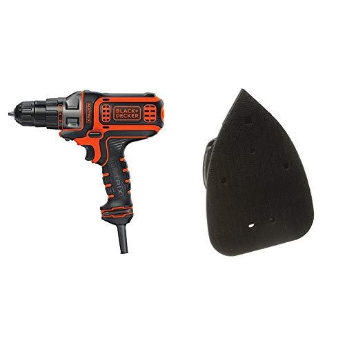 BLACK+DECKER Electric Drill, 3/8-Inch, 4-Amp with Matrix Sander Attachment (BDEDMT & BDCMTS)