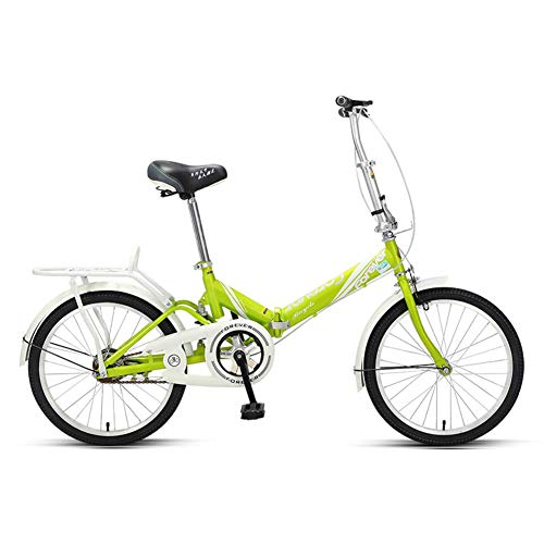 LNDDP Bicicleta Plegable para Mujeres, Mini Bicicleta Plegable Ligera para Adultos, Marco Acero Alto Carbono, Guardabarros Delantero y Trasero, Bicicleta Urbana para niños