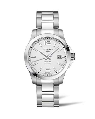 Longines orologio Conquest 39mm argento acciaio uomo automatico L3.776.4.76.6
