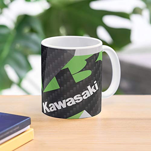 5TheWay Motorcycle Fractals Kawasaki Racing Moto Motorsport Triangles Motogp - Bestes 11 Unze-Keramik-Kaffeetasse Geschenk