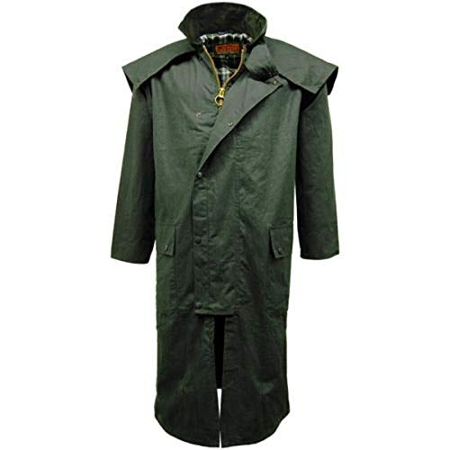 GAME Wax Stockman Long Cape Olive