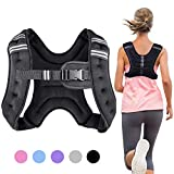 Henkelion Weighted Vest Weight Vest for Men Women Kids 4 6 8 12 16 Lbs Weights Included, Body Weight Vests Adjustable for Running, Training Workout, Jogging, Walking - Black Grey Pink Blue Purple