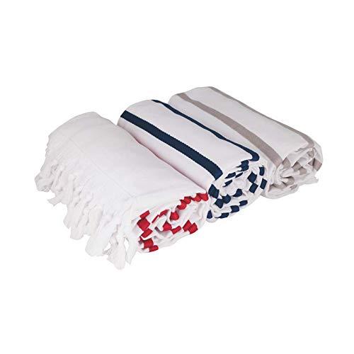 Toalla Pareo, Fabricada en Tejido con 2 Caras, una de algodón y la Otra con un Ligero Rizo EN Nuevo Concepto de Tejido, Cuyo Tacto y suavidad agradecerás al Usarla