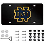High-Grade License Plate Cover for Notre Dame Fighting Irish,Applicable to US Standard Notre Dame License Plate,Personalize Your ND License Plate