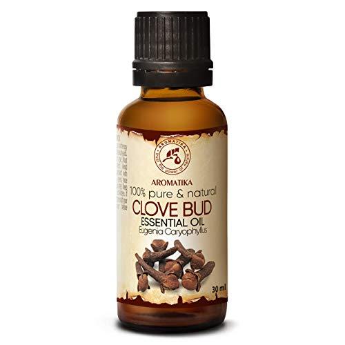 Aceite de Clavo 30ml - Eugenia Caryophyllus - Indonesia - 100% Natural & Puro - Para el Bienestar - Belleza - Aromaterapia - Difusor - Difusor Aromático - Lámpara de Aroma - Clove Bud Essential