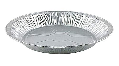 Pactogo 11' Aluminum Foil Pie Pan Extra-Deep Disposable Tin Plates (Pack of 12)