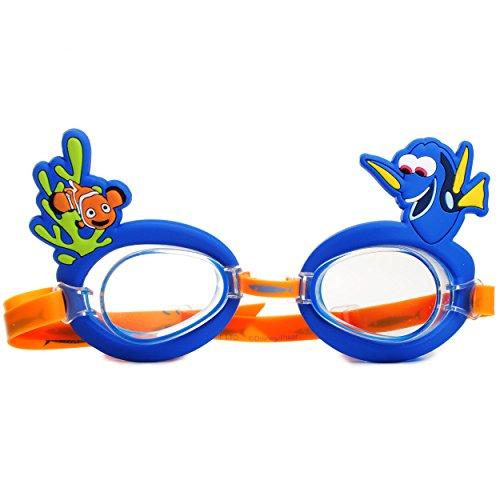 alles-meine.de GmbH 3-D Effekt _ Schwimmbrille / Chlorbrille / Taucherbrille -  Disney Findet Nemo - Fisch Dory  - Kinder von 2 bis 12 Jahre - verstellbar / wasserdicht & Anti ..