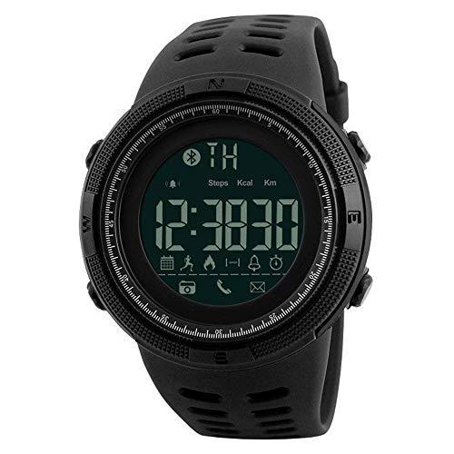 QHLJX Smart Watch,Orologio Sportivo Digitale Bluetooth 4.0 da Uomo Impermeabile Pedometro Militare Contatore Calorie Monitor Sonno Chiamata Promemoria,Retroilluminazione El, Android/iOS