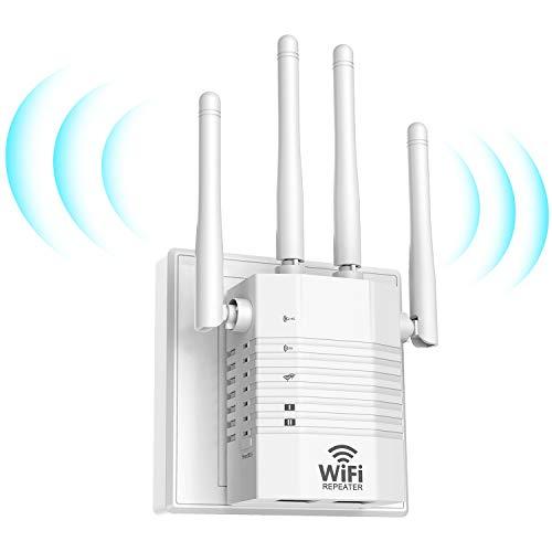 Getue 1200Mbps Répéteur WiFi Amplificateur WiFi sans Fil Puissant, WiFi Répéteur sans...