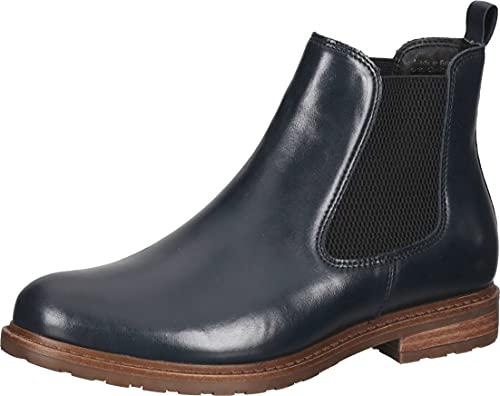 Tamaris Damen 1-1-25056-27 Chelsea-Stiefel, Navy Leather, 39 EU