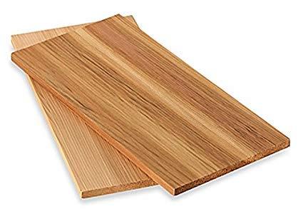 Timtina® 4 Stück Räucherbretter aus Zedernholz 28 x 14 cm (4)
