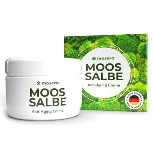 Mosera® Moossalbe mit Anti Aging Wirkung - 100 ml | für Tag und Nacht | Moos Salbe fürs Gesicht gegen Falten | Made in Germany (100ml)