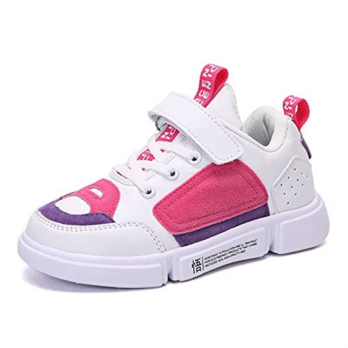 Zapatillas de Punto Transpirables para niños Zapatos Casuales de Malla Ligeros para niños Zapatillas Deportivas para niños (Color : Pink, Size : 33)