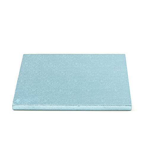 Decora 0931820 Carton pour GÂTEAU CARRÉ 35X35X1,2H, Paper, Bleu Clair, 35 x 35 x 1,2 cm