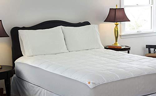 Design Weave Future Textiles Librium Temperature Regulating Hypoallergenic Pillowtop Mattress Pad – Reduces Night Sweats, 250 Thread Count, 100% Cotton, White, King