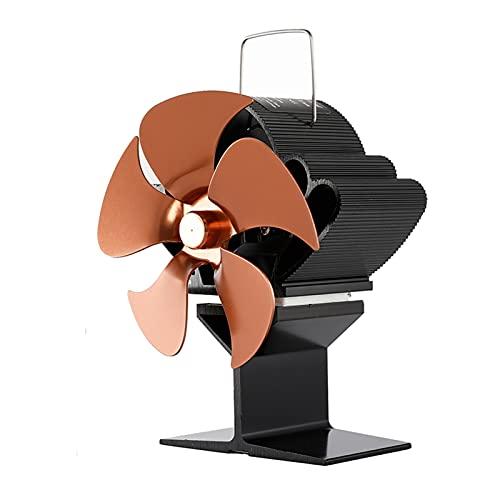 FLLOVE FANGLIANG Chimenea Negro 5 Hoja Estufa de Calor Fan de la Estufa Koministro Log Quemador de leña Eco amigable el Ventilador Tranquilo Distribución de Calor eficiente (Color : Samll)