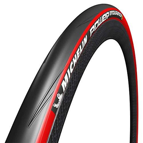Michelin 25-622 Power Endurance Copertone Flessibile, 700x25C, colore Nero/Rosso