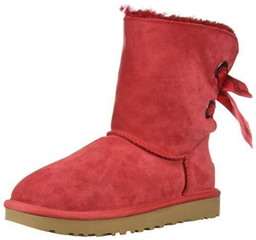 UGG Women's W CUSTOMIZABLE BAILEY BOW SHORT Fashion Boot, ribbon red, 10 M US